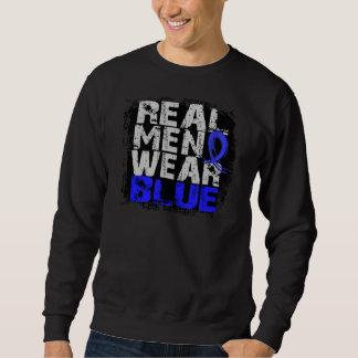 Azul real del desgaste de hombres del cáncer sudadera