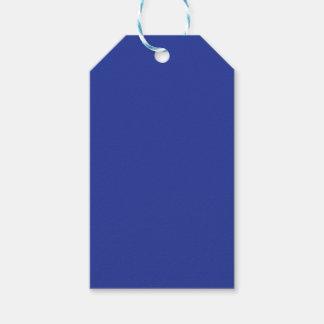 Azul real etiquetas para regalos