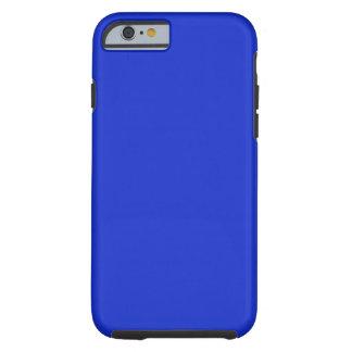 Azul real llano funda para iPhone 6 tough