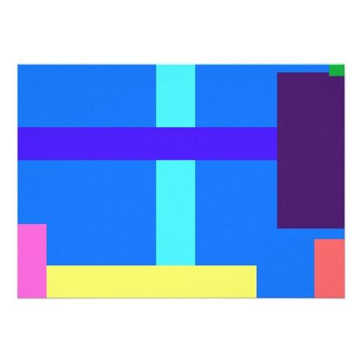 Azul real minimalista invitación