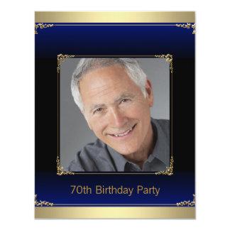 Azul real para hombre y fiesta de cumpleaños del invitación 10,8 x 13,9 cm