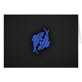 Azul real Piscis Tarjeta Pequeña