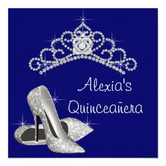Azul real Quinceanera de la tiara de los tacones Anuncio