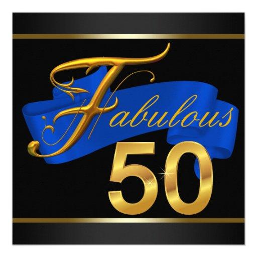 Azul real y fiesta de cumpleaños fabulosa del oro  comunicado