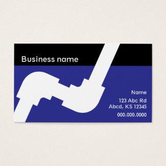 Azul real y negro de la tarjeta de visita de la