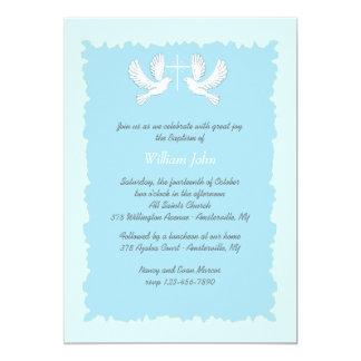 Azul religioso de la invitación de las palomas