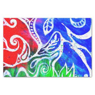 Azul rojo blanco del papel seda el   del extracto