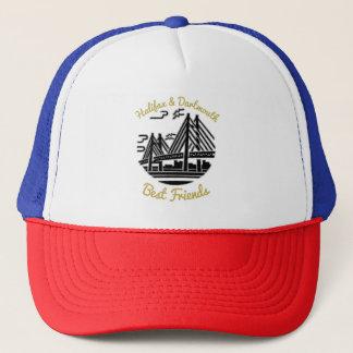 Azul rojo del gorra de los mejores amigos de