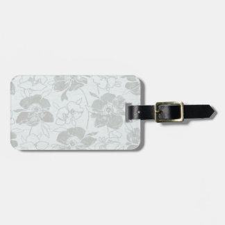 Azul romántico/gris de la flor etiqueta para maletas