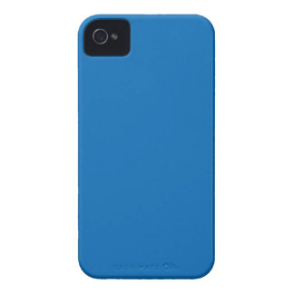Azul sólido iPhone 4 carcasas
