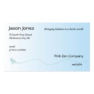 Azul sombreado con la línea de la flor de lis tarjetas de visita