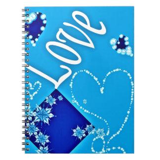 Azul todo del amor cuaderno
