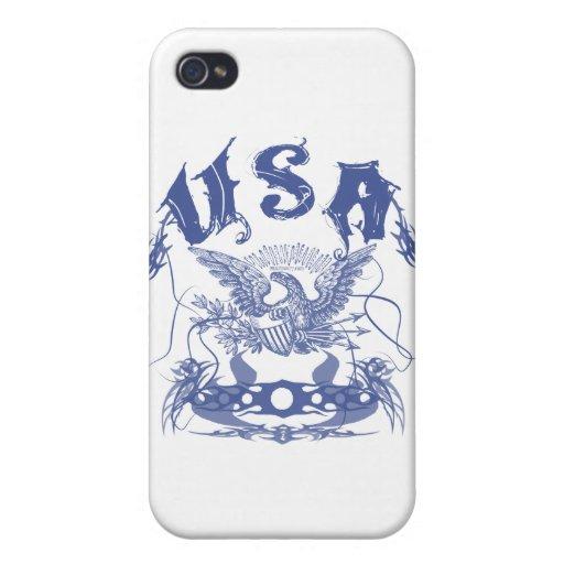Azul tribal de los E.E.U.U. iPhone 4 Cobertura