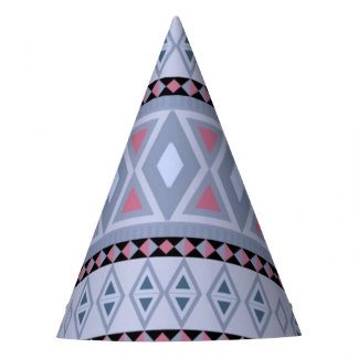 azul tribal de lujo del modelo (i) gorro de fiesta
