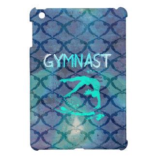 Azul tribal del modelo del gimnasta