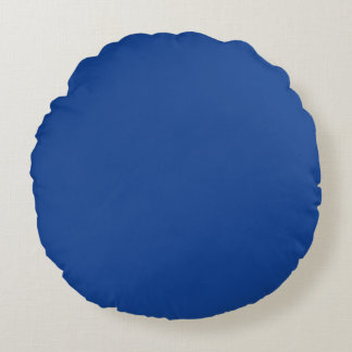 Azul ultramarino cojín redondo