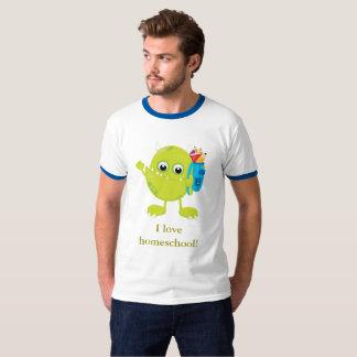 Azul verde y blanco del monstruo camiseta