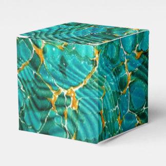 Azul veteado del aficionado a los libros de la caja para regalos