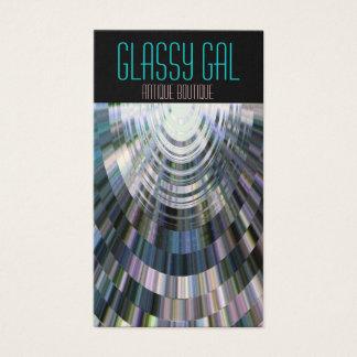 Azul vidrioso de la bola de discoteca del galón tarjeta de negocios