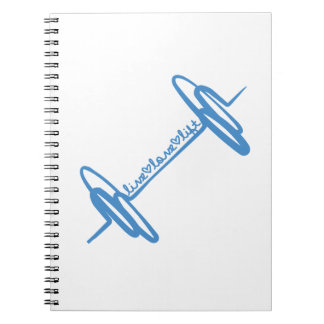 Azul vivo del Doodle de la elevación del amor Cuadernos