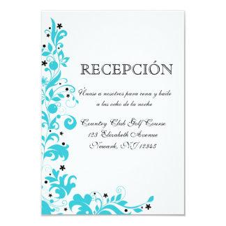 Azul Y Blanco Tarjeta de recepcion Invitación 8,9 X 12,7 Cm