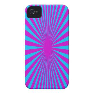 Azul y caja hipnotizada púrpura del teléfono iPhone 4 Case-Mate protector