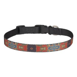 Azul y cuello de perro anaranjados del diseño de collar para mascotas