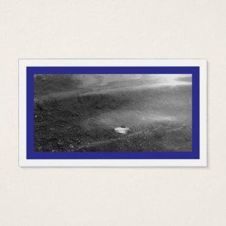 Azul y fotografía tarjeta de visita