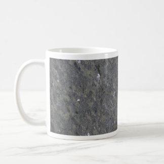 Azul y granito moteado plata tazas