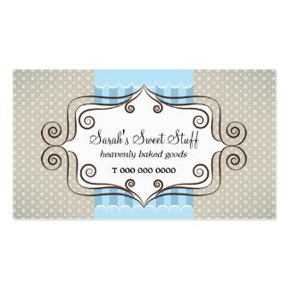 Azul y lunares dulces tarjetas de visita