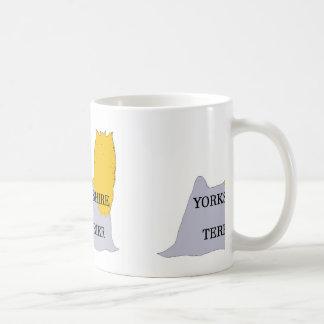 Azul y oro conocidos del silo de Yorkshire Terrier Taza De Café