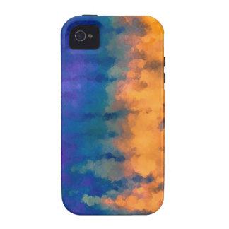 Azul y oro iPhone 4/4S carcasas