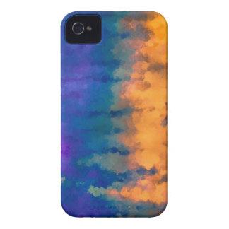 Azul y oro iPhone 4 carcasas
