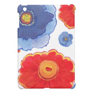 Azul y papel pintado de Red_Floral