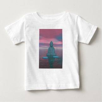 azul y pasos de Buda grises Camiseta De Bebé