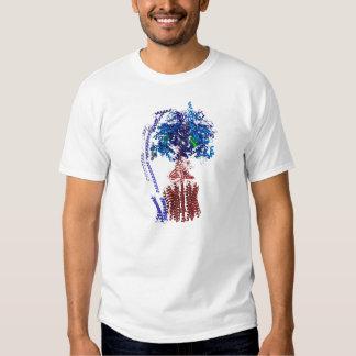 Azul y rojo del synthase del ATP Camisetas