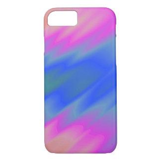 Azul y rosa funda iPhone 7