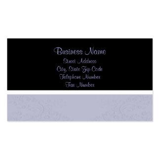 Azul y tarjetas de visita grabadas en relieve negr