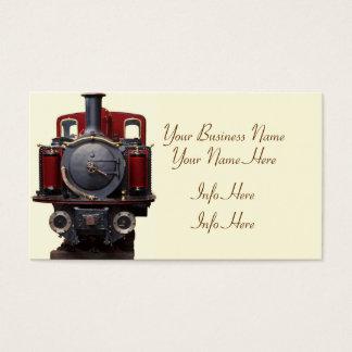 Azul y tren rojo tarjeta de visita