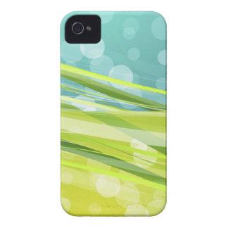 Azul y verde Case-Mate iPhone 4 carcasas