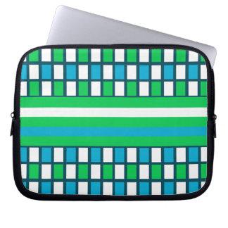 Azul y verde funda para ordenador
