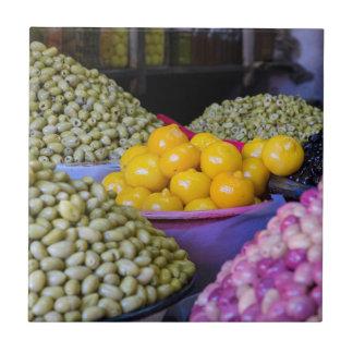 Azulejo Aceitunas y limón en el mercado