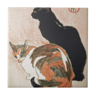 Azulejo Acuarela - 2 gatos - Théophile Alejandro Steinlen