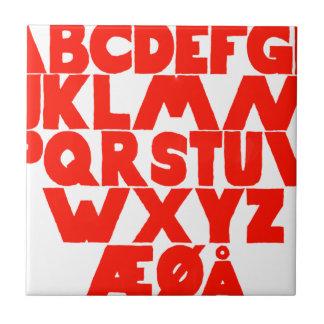 Azulejo Alfabeto noruego