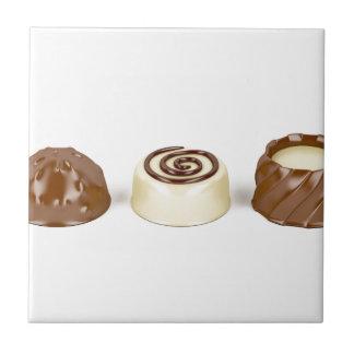 Azulejo Almendras garapiñadas del chocolate