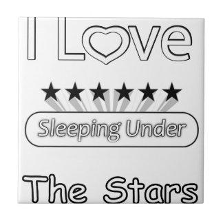 Azulejo Amo el dormir debajo de las estrellas