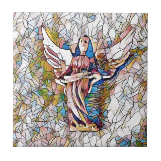 Azulejo Ángel de guarda bonito del vitral