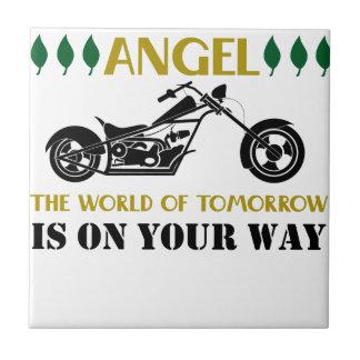 Azulejo Ángel de la motocicleta