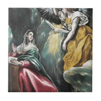 Azulejo Ángel que habla a Maria