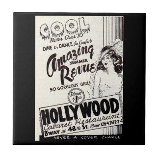 Azulejo anuncio del restaurante del cabaret de Hollywood
